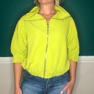 Vintage lime green cropped zip up jacket Carlisle